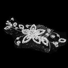Alloy Hair Combs With Rhinestone Wedding Headpieces – USD $ 23.99