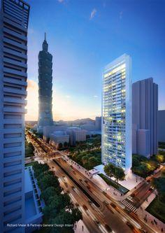 Galería - Comienza construcción de rascacielos diseñado por Richard Meier en Taipei - 6