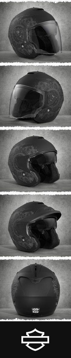 Versatile & Functional. | Harley-Davidson Gyre Interchangeable Sun Shield 3/4 Helmet