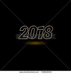 Happy new year 2018 vector illustration
