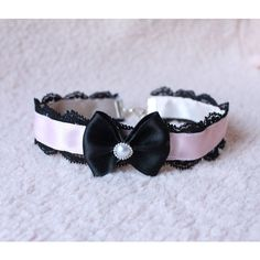Simple Gothic Lolita/Pastel Goth Choker With Bow ON SALE (15 AUD) ❤ liked on Polyvore featuring jewelry, necklaces, bow choker, goth jewelry, pastel goth jewelry, gothic jewelry and bow choker necklace