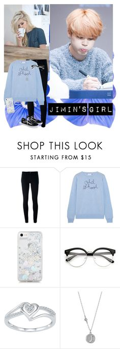 """""""Jimin's Girl"""" by infinite-exo-girl ❤ liked on Polyvore featuring Levi's, Lingua Franca, Skinnydip, Swarovski and J.Crew"""
