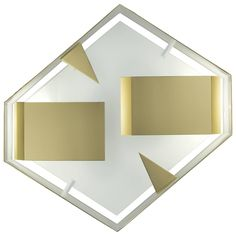 Hexagonal Quadro Di Luce Wall Sconce, Gio Ponti, Re-Edition | From a unique…