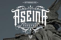 Aseina Typeface + Bonus (introsale) by Rvq Type Foundry on @creativemarket