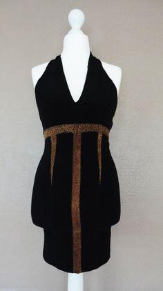 Robe Moulante Noire Dos nu Vintage 80s 10 par BettyseVintage, €25.00