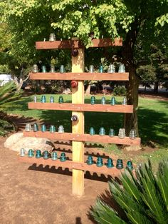 Vintage Glass Insulators Display