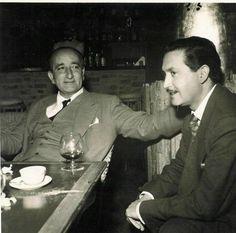 José García Nieto con Leopoldo Panero.