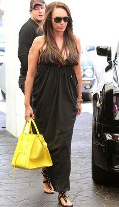 Tamara Ecclestone with Celine Citron Yellow Pony Hair Phantom Bag 2