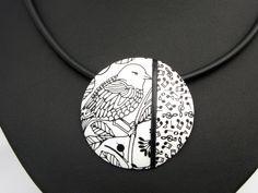 Statement Ketten - Kette Frühling, Polymer clay Art, Halskette Fimo - ein Designerstück von filigran-Design bei DaWanda