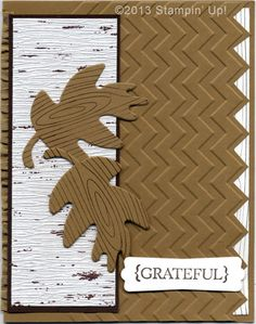 Stampin' Up! Cards - Thankful Tablescape Simply Created Kit, Chevron Embossing Folder, Woodgrain Stamp