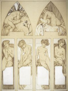 Figures Decoratives - Alphonse Mucha
