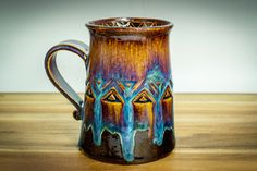 Glazes For Pottery, Pottery Mugs, Shops, Clay Mugs, Ceramic Cups, Home Deco, Cocoa, Jar, Beer Stein