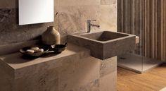 Square Built-in Sink Creator: Sergio Devoti #TheVeroStone #Carrara #Marble #Stone #Sink