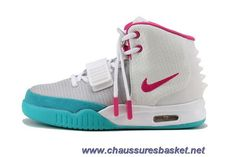 low priced 23709 a407b Authentic Nike Air Yeezy II Women Shoes White Blue For Wholesale