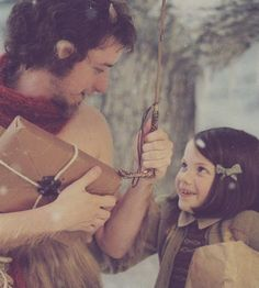 "Lucy and Mr. Tumnus... ""Well, I guess I could come for a little while. If you have sardines."""