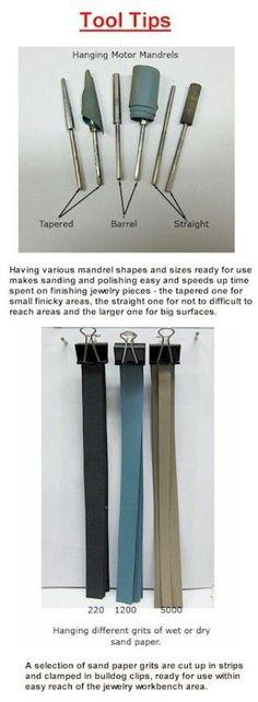 Jewelry Tool Tips Sanding Mandrels with strips #jewelrymakingtutorial #jewelrymaking