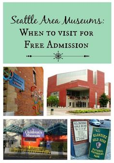 Seattle Area Museums offering free admission on the first Thursday of each month:   -Seattle Art Museum -Seattle Asian Art Museum -The Burke Museum  -The Museum Of History & Industry  -The Museum Of Flight  -Henry Art Gallery  -The Northwest African American Museum
