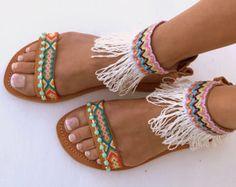 INKA Friendships  Boho Sandals Pom pom summer shoes