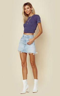 2655b56a7e05de Agolde Clothing Quinn Mini Skirt Autumn Winter Fashion