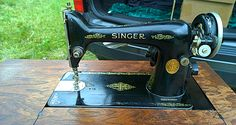 vintage black singer front