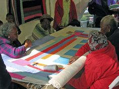 Gee's Bend is a community on the curve of the river Alabama River, and home of a historical quilting bee. Over six generations, the women of the bee have produced quilts that combine elements of Amish, traditional American and African influences, and often utilise fabric scraps and cast-offs to beautifully wonky effect.