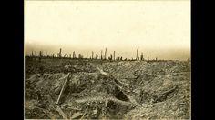 Région d'Herbécourt (Somme). Au bois de la Vache, tranchées allemandes…