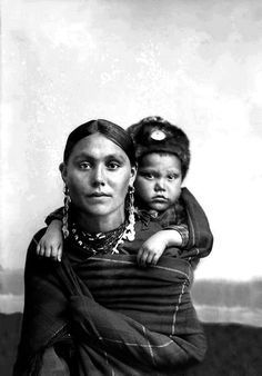 Native American Portrait of Ho-Chunk Woman and Child ca.