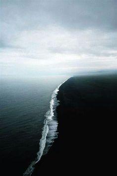 Gulf of Alaska where 2 oceans meet but don't mix.