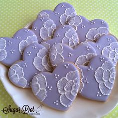 """sugar cookie embroidery   ... embroidery"""". It gives these cookies a classic and romantic feel"""