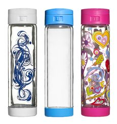 Glasstic Shatterproof Glass Water Bottle 3 Pack Choice