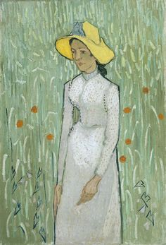 """Girl in White"", 1890, Vincent van Gogh."