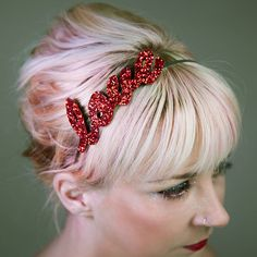 custom glitter word or name headband by gg's pin-up couture | notonthehighstreet.com