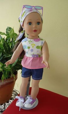 "Doll Clothes-Handmade-American Girl Dolls-Fits 18""Doll-Sport Set & Accesories. #Handmade"