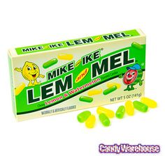 Mike & Ike Lem and Mel Candy Theater Size Packs: 12-Piece Case