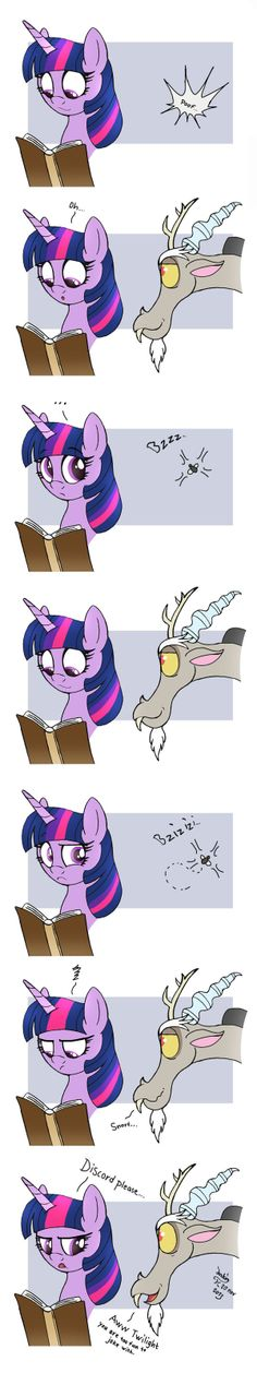MLP FIM comic - Discord Annoy Princess Twilight by Joakaha.deviantart.com on @deviantART