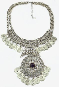 Gypsy Bohemian Turkish Festival Jewelry Double Chain Coin Statement necklace (just bought this for $4.99!)