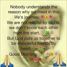Inspirational Good Morning Quote About Friendship