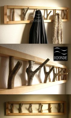 Handmade Home Decor Wood Picture Frames, Picture On Wood, Frames On Wall, Home Decor Hooks, Entryway Decor, Modern Interior Design, Modern Decor, Modern Rustic, Handmade Home Decor