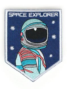 NASA Space Spaceman Astronaut Embroidered Iron On Shirt Bag Jeans Badge Patch Cool Patches, Pin And Patches, Iron On Patches, Jacket Patches, Space Man, Shirt Bag, Back Patch, Outer Space, Embroidery Designs