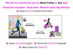 Who will do your Black Friday shopping? Black Friday Shopping, Last Minute Gifts, Stress, Delivery, Fashion, Moda, Fashion Styles, Fashion Illustrations