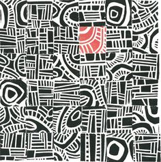 Do as infinity pattern with one block of colour change - LC LINOCUT PRINT - Hundertwasser Mini Mid Century Modern Print, inspires. Collaborative print, own stamp in red Linoleum Block Printing, Ecole Art, Inspiration Art, Sketchbook Inspiration, Principles Of Design, Middle School Art, Art School, Art Graphique, Tampons