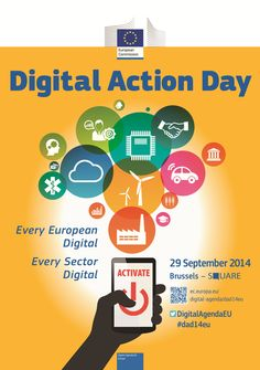 Save the date for the top digital event of this autumn - Digital Action Day! Entrepreneurs, academics, journalists, IT experts and opinion leaders will come to Brussels to outline the future of Digital Europe! 29 September 2014, Square Brussels  http://ec.europa.eu/digital-agenda/dad14eu #DAD14eu #ConnectedContinent