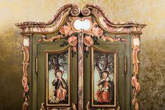 bauernschrank landhaus schrank kasten dielenschrank bemalt bauernm bel antik schr nke und. Black Bedroom Furniture Sets. Home Design Ideas