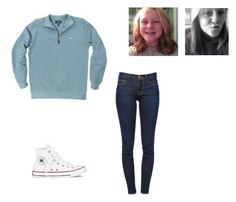 """""""Untitled #45"""" by chloe-madison-barnes on Polyvore featuring Fraternity, Frame Denim and Converse"""
