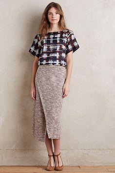 Sweater Wrap Midi Skirt - anthropologie.com