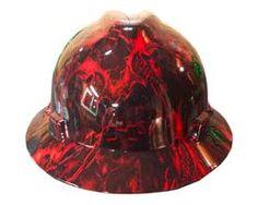 532b0ab2f5ff8 Hydrographic Warrior Red MSA V-Guard Full Brim Hard Hat Hard Hats
