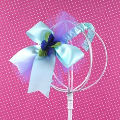 Blue Bow Fascinator Headband $10, coordinates perfectly with our Blue Petal Tutu Skirt
