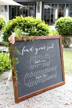 Chalkboard Seating Plan  #wedding #seatingplan #chalkboard #weddingsignage #capetownwedding