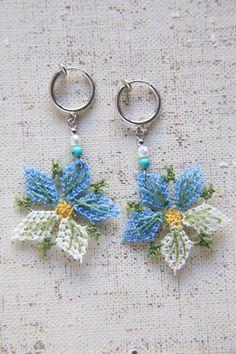 Hand-knitted earrings