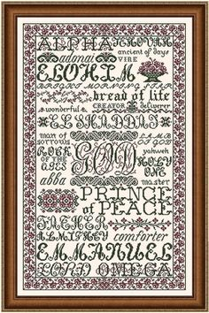 The Name of God - Cross Stitch Pattern